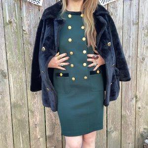 • v i n t a g e • emerald green dress